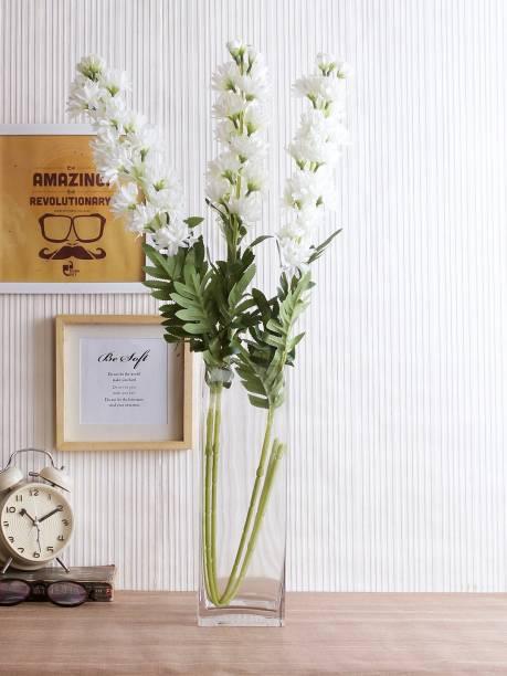 5ec7890c0 Fourwalls Fourwalls 30 cm tall Classic Decorative Square Flower Vase  (Medium Height 12 Inch