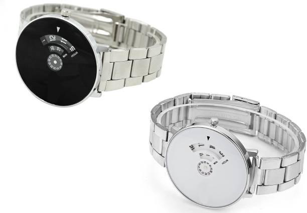 59e83f6cdea Lifetime boys watch new combo watch black and white metal wrist watch  professional men watch in