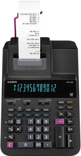 CASIO DR-120R-BK Printing  Calculator