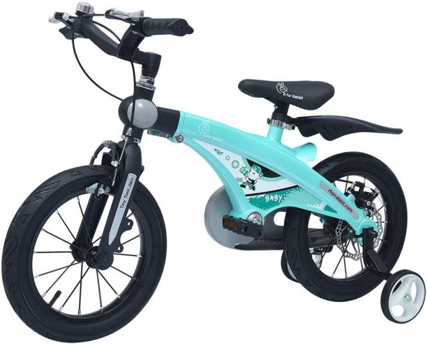 R for Rabbit The Smart Plug and Play Kids Cycle (14 inches/T - For Kids 3-5 Years) (Lake Blue) 14 T Road Cycle