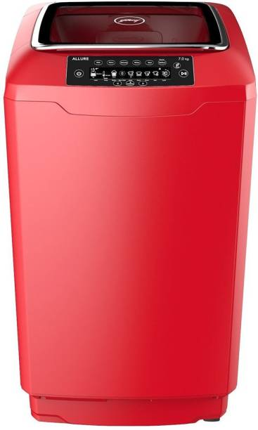 Godrej 7 kg Fully Automatic Top Load with In-built Heater Red