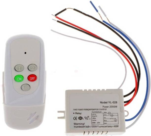 76b7237866f TRP TRADERS PVC 2 Way Wireless Remote Control Switch 3 Two Way Electrical  Switch
