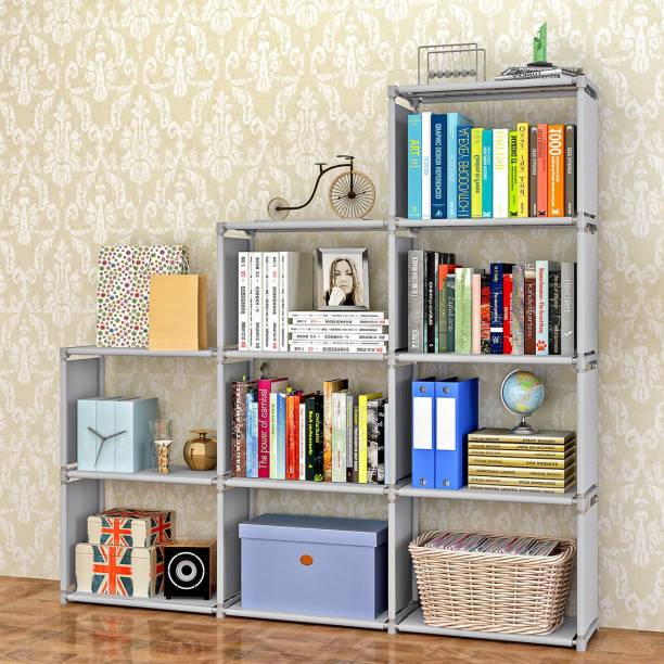 furn central metal open book shelf - Steel Bookshelves