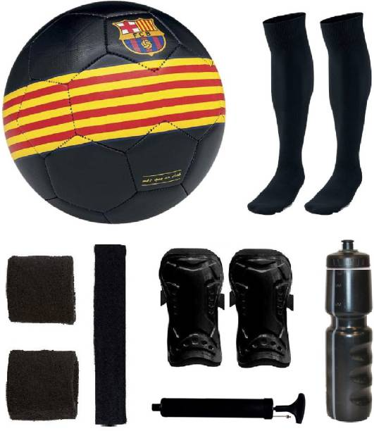 5ca084476d1 SportsCorner Combo of Ordem Barca Black Yellow Red Football (Size-5)