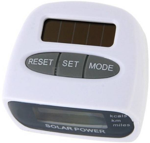 Iktu Solar Power Calorie Consumption Run Step Pedometer Distance Counter With LCD Screen-White. Pedometer