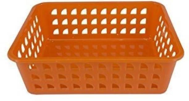 PREMSONS Rectangular Plastic Basket Bins Organizer Storage Basket