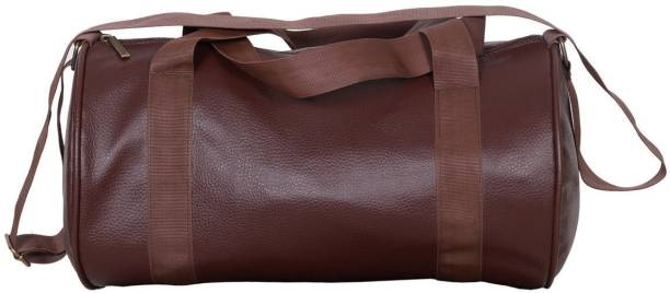 e9575d96390 UrbanInteria UI1711SB001 Latest Unisex Mat Finsihing Brown Leather Sports  kit   Gym Bag for Ladies and