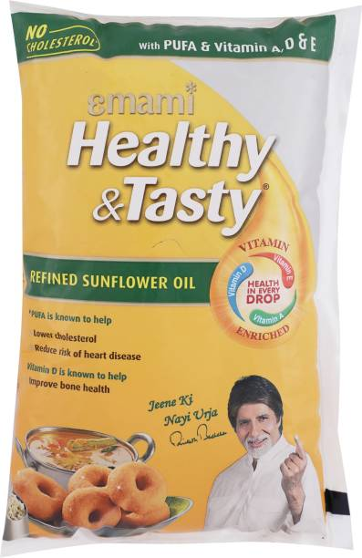 EMAMI Healthy & Tasty Refined Sunflower Oil Pouch
