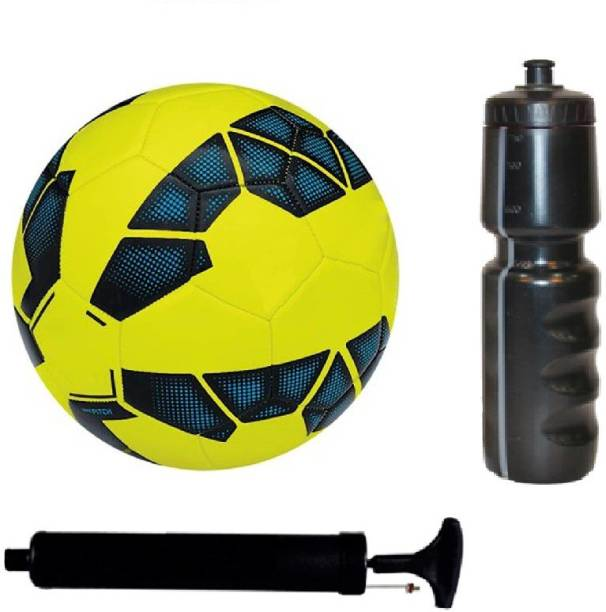 Retail World Combo of Premier League Yellow Football (Size-5) with Air Pump d2b164ef96ffe