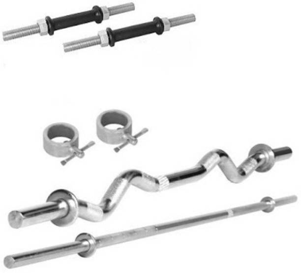 HOME 2 GYM COMBO-3 FT.STRAIGHT,3 FT.CURL,2 DUMBELL RODS Adjustable Dumbbell
