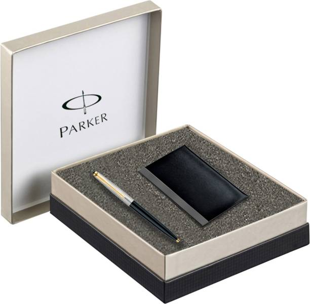 PARKER Galaxy Standard GT Ball Point Pen - with Card Holder Pen Gift Set