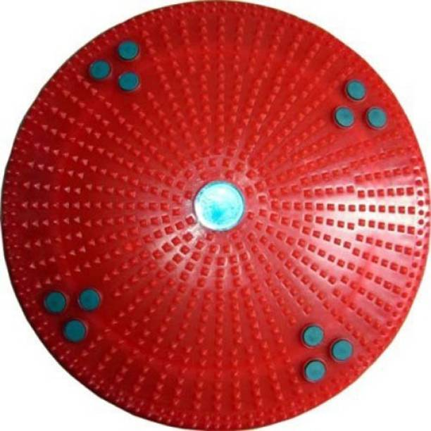 Divinext 4 IN 1 ACCUPRESSURE MAGNETIC PYRAMID ACS TWISTER FOOT MAT ROUND MODEL Multicolor 12 mm Accupressure Mat