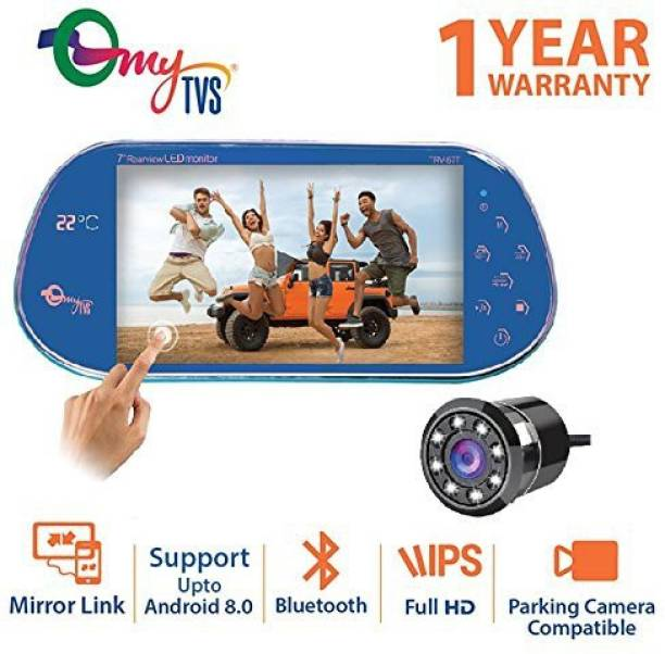 Rear view mirrors buy rear view mirrors online at best prices mytvs trv 67t 7 inches car rear view full hd touch screen with temperature ccuart Gallery