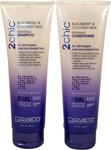 Giovanni Cosmetics - 2Chic Repairing Shampoo & Conditioner 8.5 Fluid Ounce250 Milliliter - Dual Repairing Complex