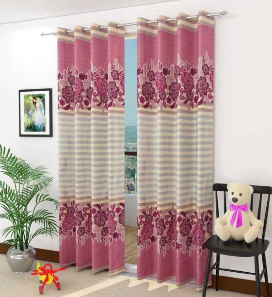 Jyoti Home Decor 84 Cm 3 Ft Polyester Window Curtain Pack Of 2