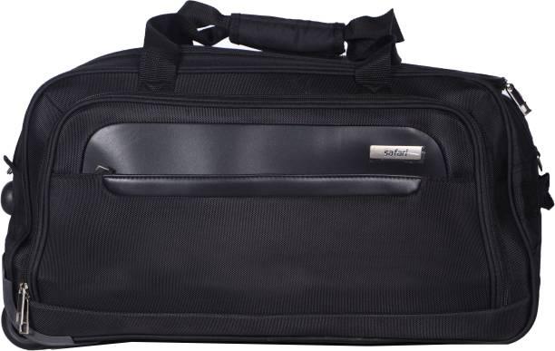 256adfba12f6 Safari (Expandable) Parker Wheel On Duffle 55 cm (Black) Duffel Strolley Bag