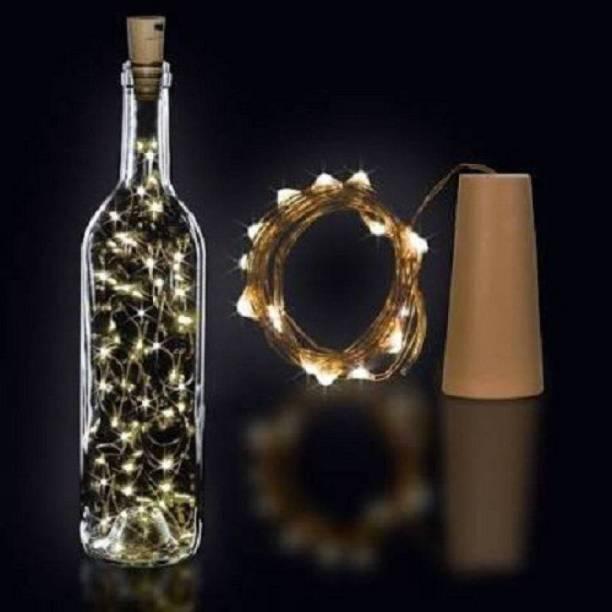 Bottle cork stopper 2 mtr 20 LED string lights WHITE 78 inch White Rice Lights
