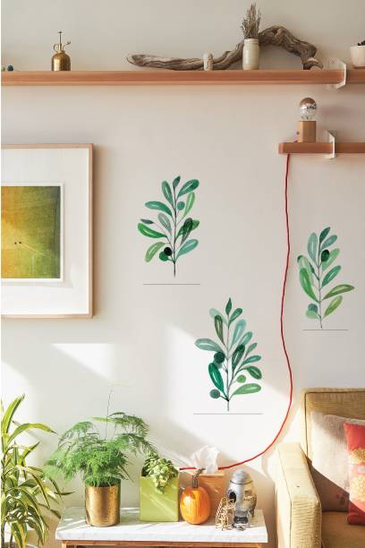 ASIAN PAINTS Large Wall Ons Nature Sweet Leaves Adhesive Type