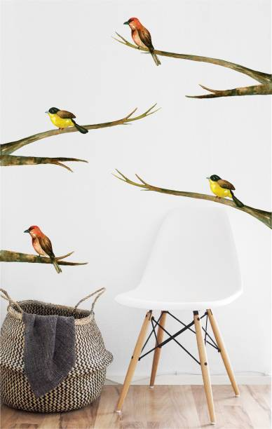 ASIAN PAINTS Extra Large Wall Ons Nature Bird Branch Adhesive Type