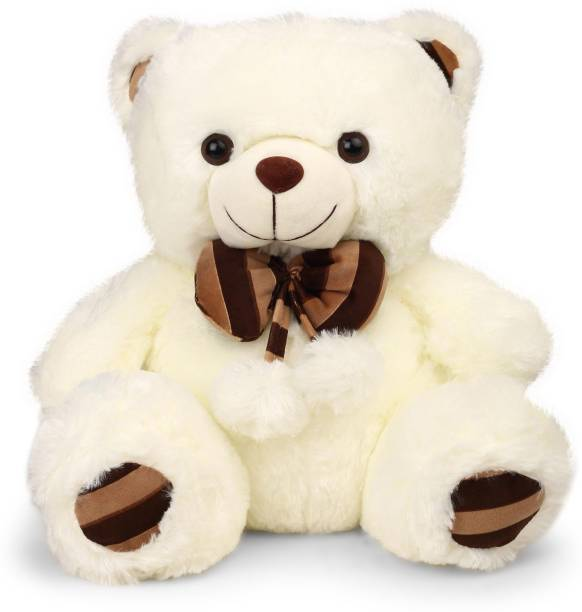 280d5280683 My Baby Excel Bear with Bow and Printed Paws 48 cm Cream Colour - 48 cm