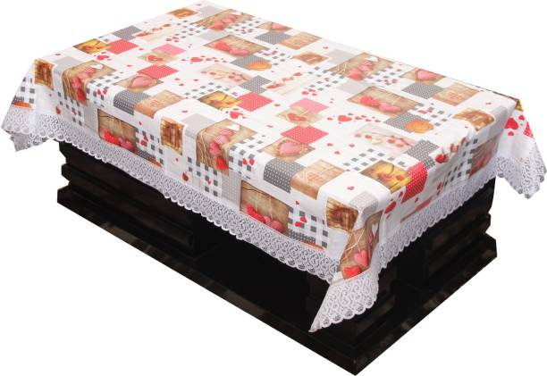 KUBER INDUSTRIES Self Design 4 Seater Table Cover