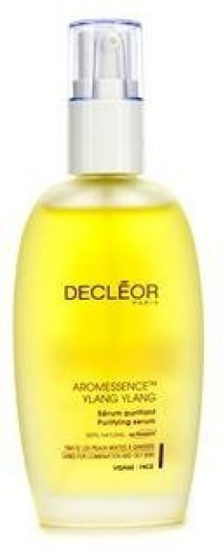Decleor - Aromessence Ylang Ylang Purifying Serum - 50ml/1.7oz White Silicone Double Sided Scrub Facial Cleansing Brush Face Skin Pores Cleaner