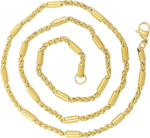68b0ae44649 Saizen CH225 Dazzling Yellow Gold Chain For Men, Boyfriend & Husband Gold-plated  Plated
