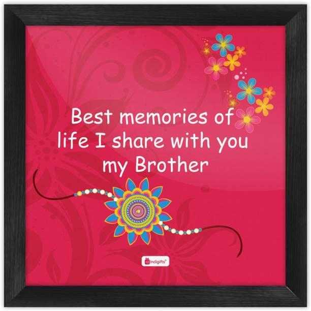 Rakhi Gift, Raksha Bandhan Gift, Gifts for Brother, Birthday Gifts for Brother, Poster for Walls_S-PSFSWBK01SQ08-BRO16035 Paper Print
