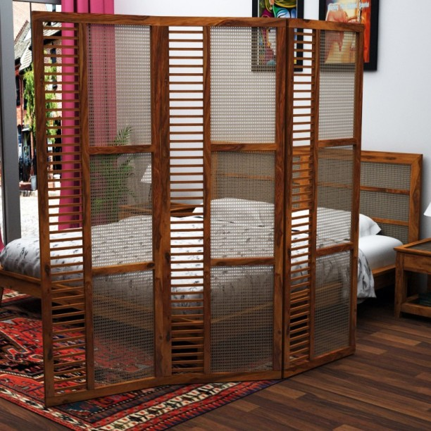 Home Edge Helios Solid Wood Plain Screen Partition