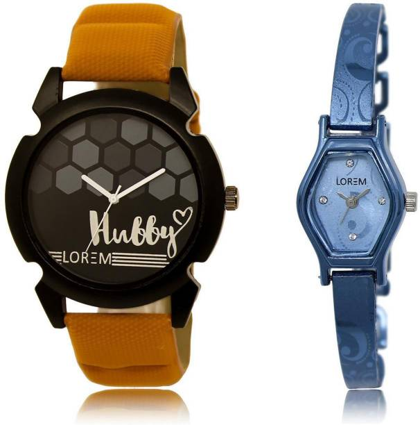 701d2aeb24b LOREM watch32-218 COMBO Blue   Black Contemporary   Round Boy s   Girl s  Metal Bracelet