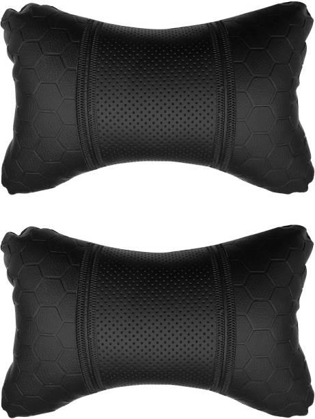 AdroitZ Black Leatherite Car Pillow Cushion for Maruti Suzuki