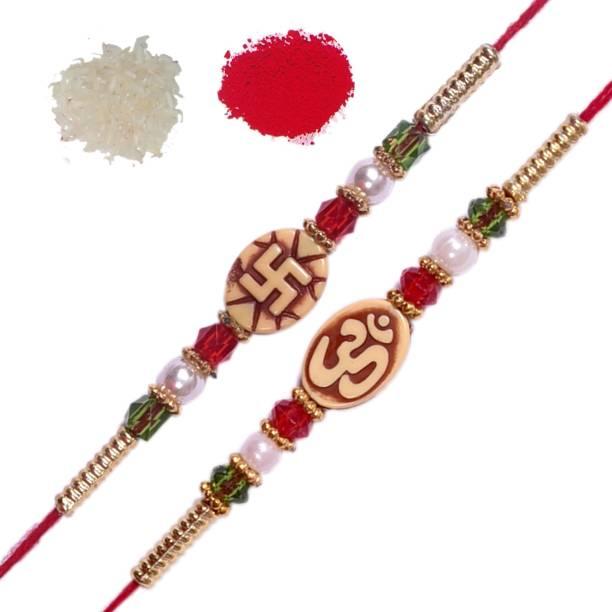 Vanyas Designer Chawal Roli Pack, Rakhi  Set