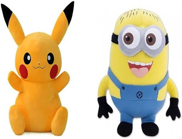 a43e768b4d0e Marchie's kids favorite cartoon Cute Stuffed Toy Pikachu (Height-17 CM) and  Cute