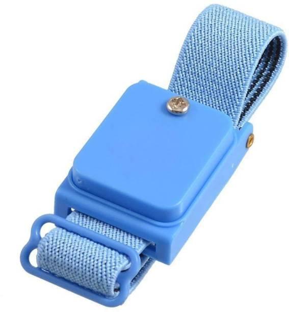 GLOBAL STATCLEAN SYSTEMS Blue Cordless Wireless Anti Static Wrist Strap ESD Wristband Cordless Anti-Static Wrist Strap
