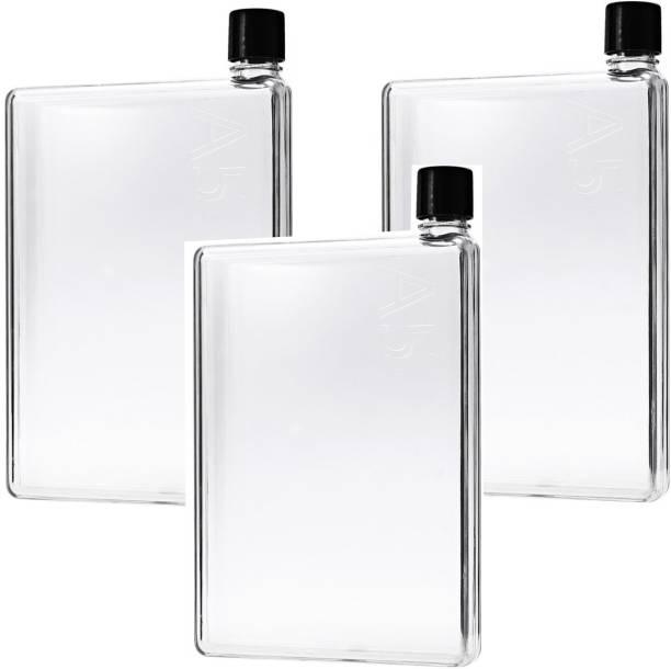 31aaa1c5eb ARYSHAA 3 Pc A5 Memo Notebook Size Ultra slim Water Bottle 420 ml Bottle  420 ml