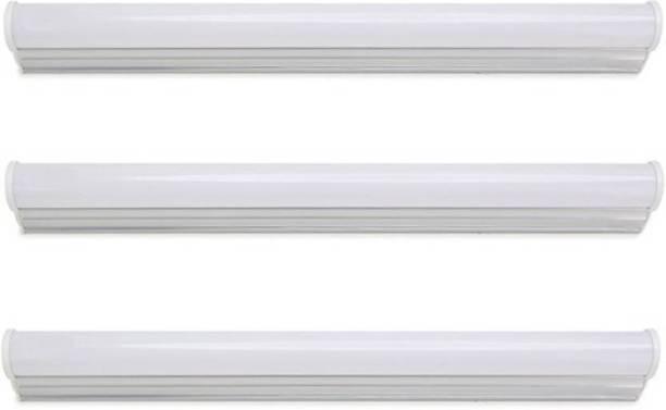 PRABHA Solar 7Watt 12V DC Cool Day Light (Pack of 3) Straight Linear LED Tube Light