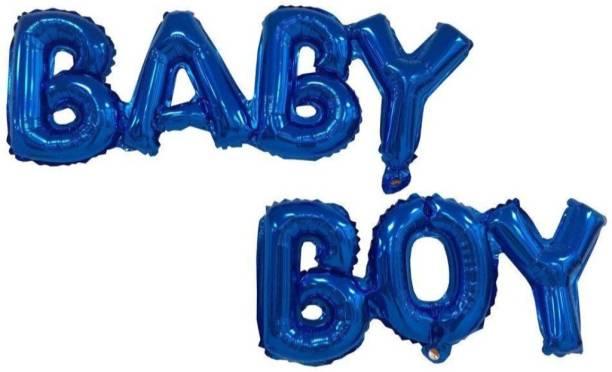 Smartcraft Solid Baby Boy Alphabet Foil Balloon Letter Balloon