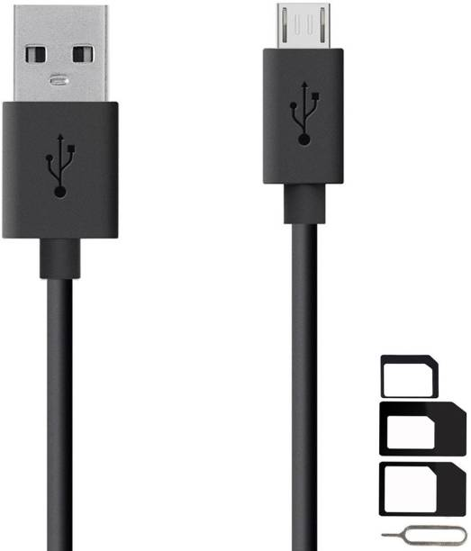 ShopsGeniune Cable Accessory Combo for Videocon Infinium Z45 Dazzle, Graphite V45DB, Z55 Dash, Octa Core Z55 Delite, Z45 Amaze, Infinium Z51 Punch, Infinium Z52 Inspire, Z30 Pace, Infinium Z30 Aire, Infinium Z40 Quad, Infinium Z51 Nova Plus, Thunder Plus 2 V50DC, A48 High Speed Micro USB Charging Data Sync Cable 1 Meter With SIM Adapter
