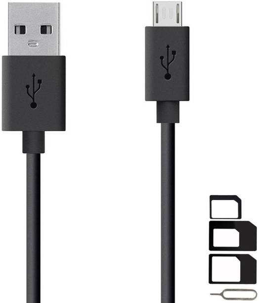 GoSale Cable Accessory Combo for VOX Mobile Kick K3, VOX Mobile Kick K7, VOX Mobile V5600 High Speed Micro USB Charging Data Sync Cable 1 Meter With SIM Adapter