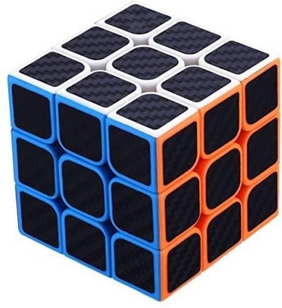 Montez High Speed Carbon Fiber Sticker 3x3 Neon Colors Magic Rubik Cube Puzzle Toy 55