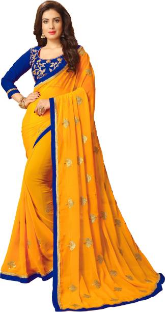 d96c1cfdd53296 Heavy Work Sarees - Buy Heavy Net Sarees With Stone Work Online at ...