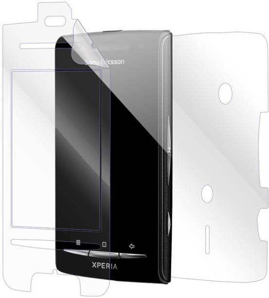Snooky Front and Back Screen Guard for Sony Ericsson Xperia X8