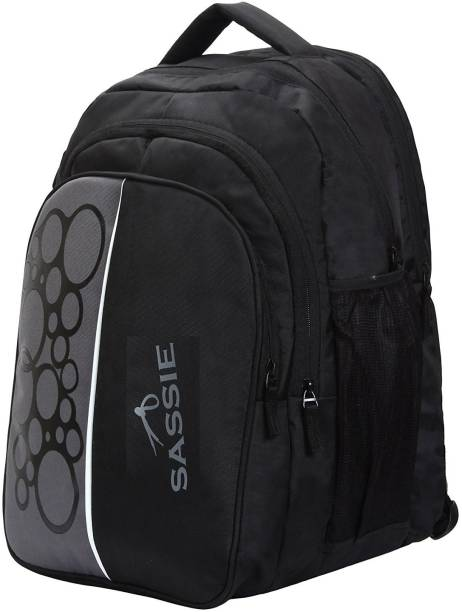 5ccea8b548d9 Sassie 41L Black Grey School Bag   Travel Backpack with 4 Compartments  (SSN-1079
