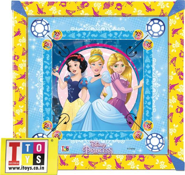 DISNEY Princess Carrom & Ludo 20x20 size 2-in-1 Carrom Board Board Game