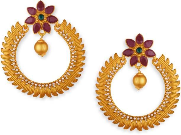 437c88b2c Ruby Earrings - Buy Ruby Earrings online at Best Prices in India ...