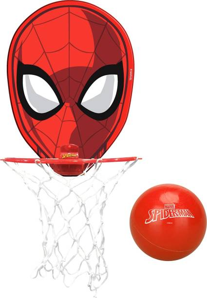 MARVEL Spider-Man Basketball Set with Ball & Face-cut Board for Basketball