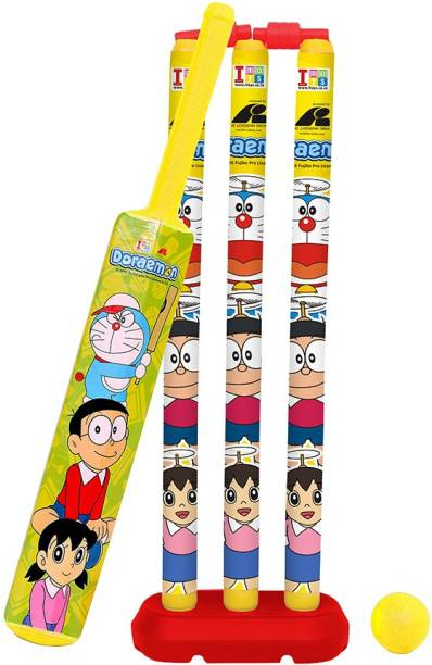 Doraemon Senior Bat, Stumps and Ball Cricket Kit
