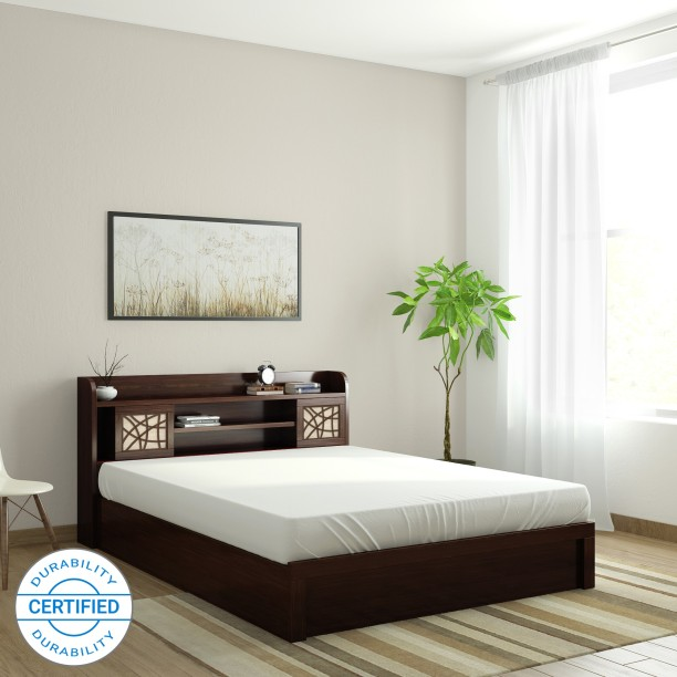 Spacewood Mayflower Engineered Wood Queen Box Bed & Beds: Buy Beds बेड Online at Best Prices in India