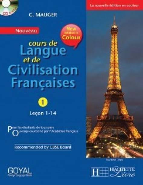 G MAUGER - 1 BOOK WITH CD - G Mauger Blue Cours de Langue et de Civilization Francaise 1 First  Edition
