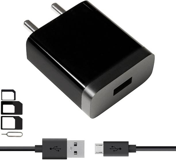 ShopsNice Wall Charger Accessory Combo for VOX Mobile Kick K3, VOX Mobile Kick K7, VOX Mobile V5600 Charger With 1 Meter Micro USB Charging Data Cable And SIM Adapter